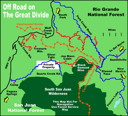 Pagosa Springs Off Road Map - Pagosa Springs Colorado