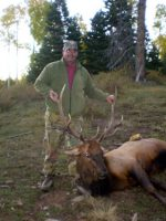 Mark Aragon gets his bull elk