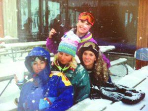Bff's cira 1990's L-R Kelley Barsanti, Elly Heitkamp, Becca Stark, Jacque Aragon