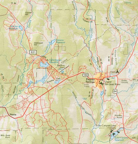 Maps Pagosa Springs Colorado Amp The Southwest Pagosa