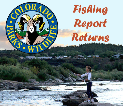 COLORADO PARKS AND WILDLIFE'S WEEKLY FISHING REPORT